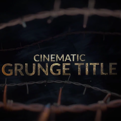 Project File - 3D Cinematic Grunge Title (Pack or Single)