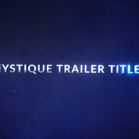 After Effects Template - Mystique Trailer Title