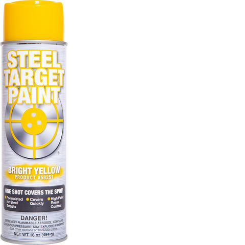 Bright Yellow Steel Target Paint