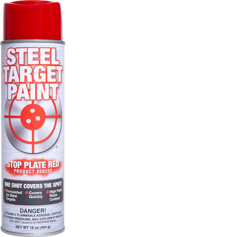 Stop Plate Red Steel Target Paint