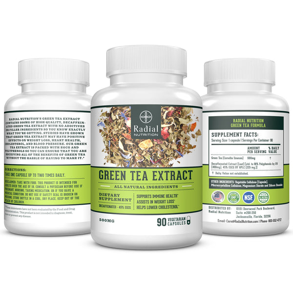 Green Tea Extract EGCG Weight Loss Vegetarian Supplement