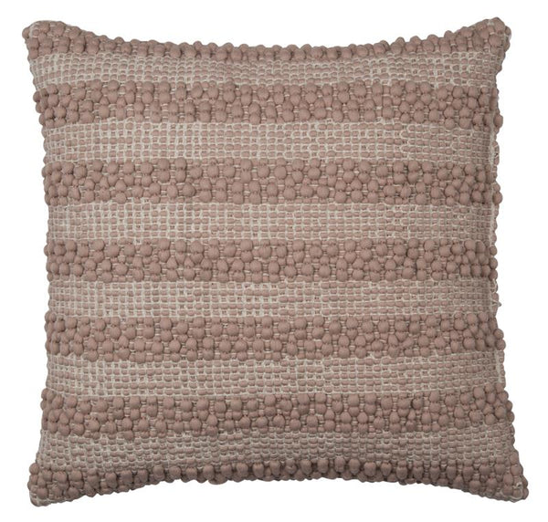 Knotted Stripe Pink Cushion