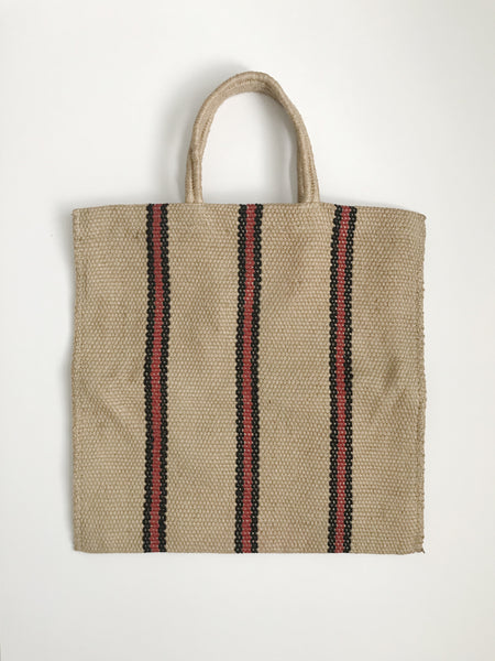 Striped Jute Handwoven Shopper