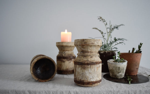 Reclaimed Wooden Candlestick