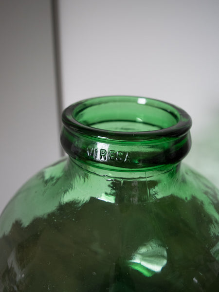 Vintage Glass Demijohn Bowl