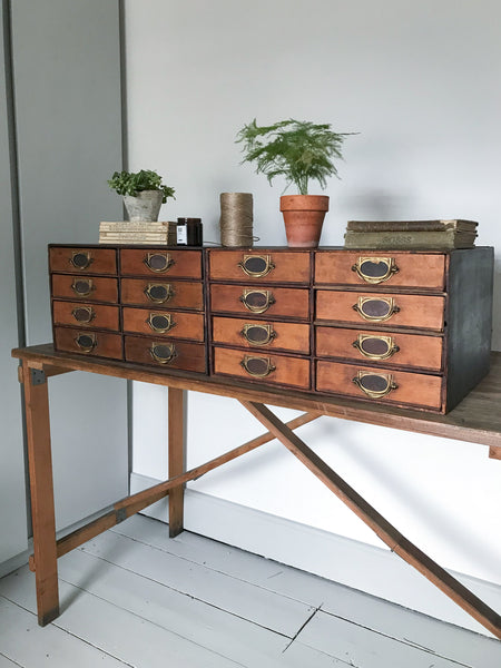 Vintage Double Filing Drawers
