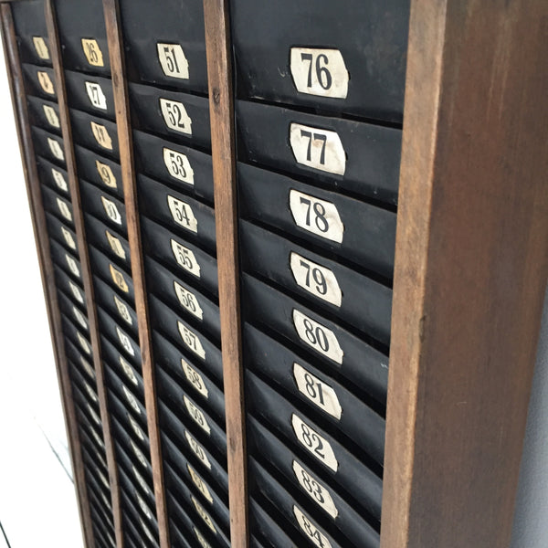 Vintage Factory Clocking in/out Board
