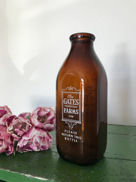 Vintage Original Gates Homestead Farm Dairy Bottle