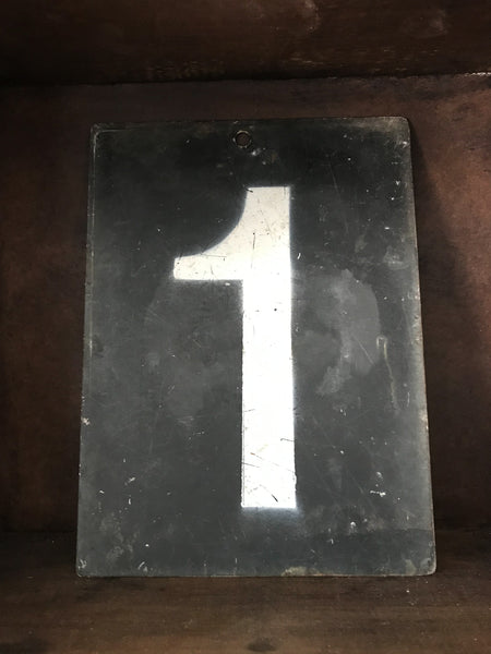 Vintage Metal Cricket Number