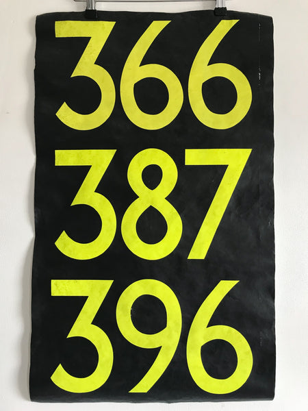 Vintage Bus Numbers Blind
