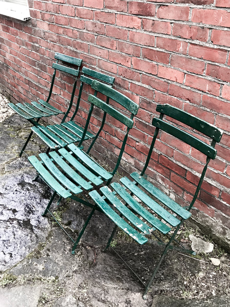 4x Vintage French Bistro Chairs