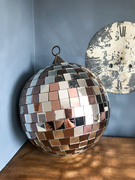Vintage Mirrored Disco Ball