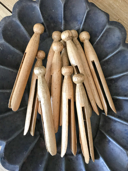 Vintage Wooden Dolly Pegs