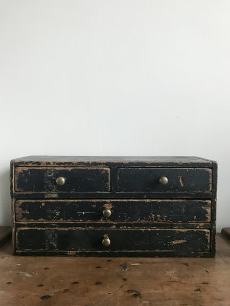 Vintage Black Drawers