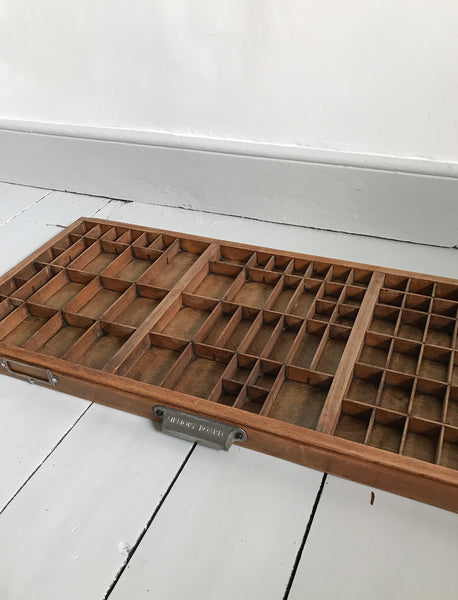 Vintage Wooden Printers Tray
