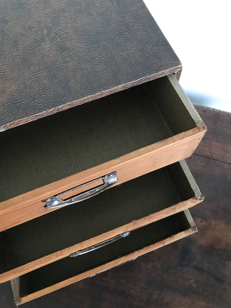 Vintage Filing Drawer Unit