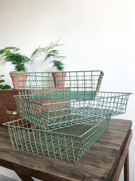 Vintage Retro Wire File Tray