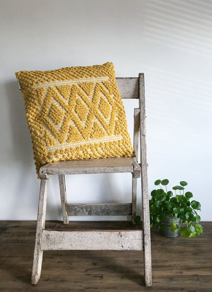 Mustard Diamond Cushion