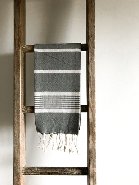 Cotton Hammam Hand Towel - Grey