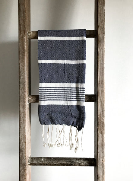 Cotton Hammam Hand Towel - Indigo