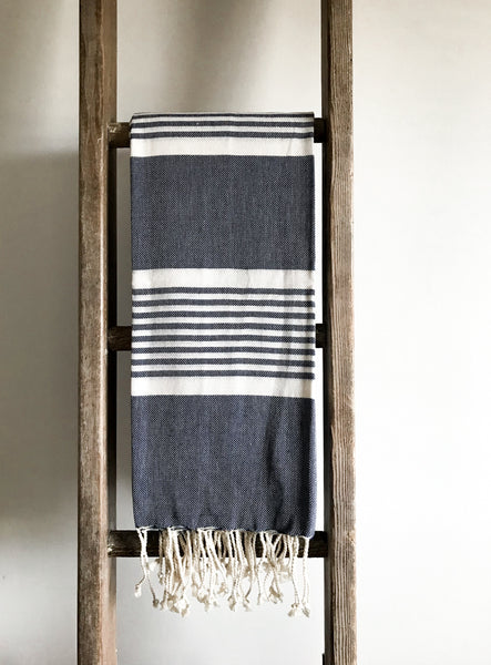 Cotton Hammam Towel - Indigo