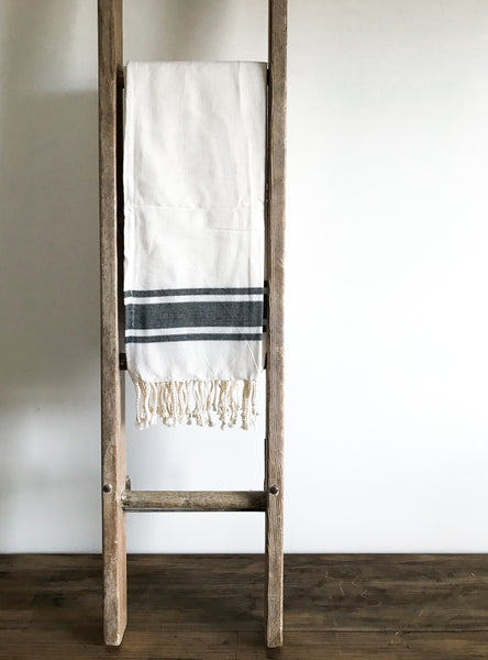 Large Cotton Hammam Towel - White