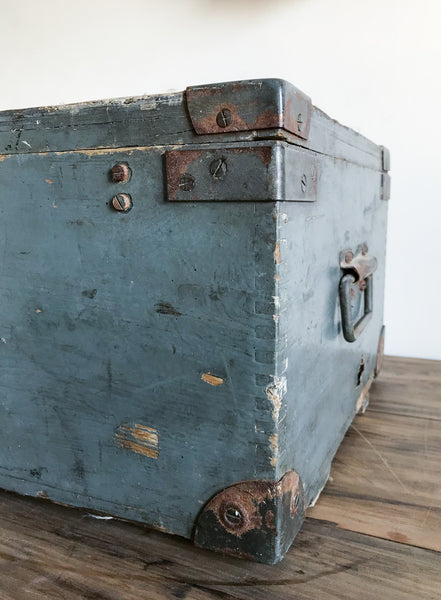 Vintage Wooden Army Trunk