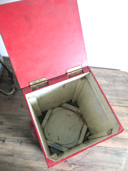 Vintage Red Wooden Box