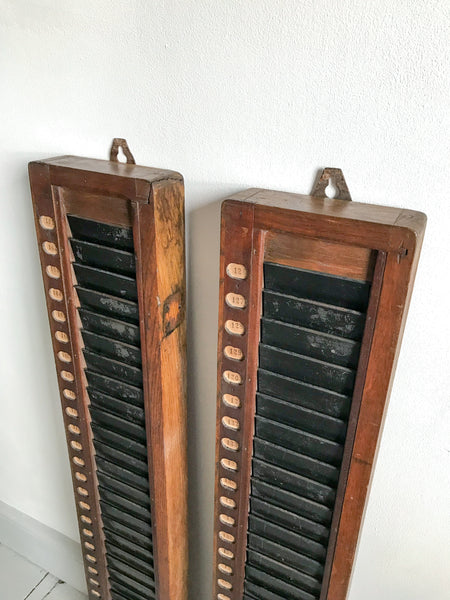Vintage Clocking-In Board