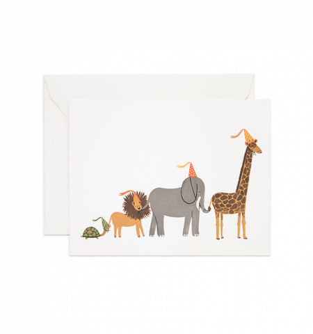 Boxed Animal Parade Cards