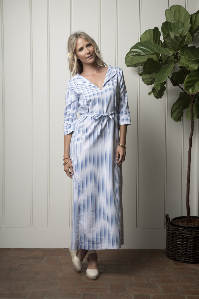 Carmel Cabana Dress - Ocean Stripe