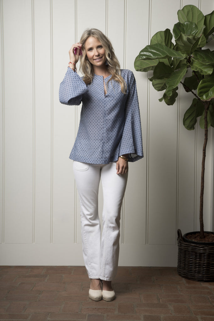 Portola Tunic - Pacific Blue Dot