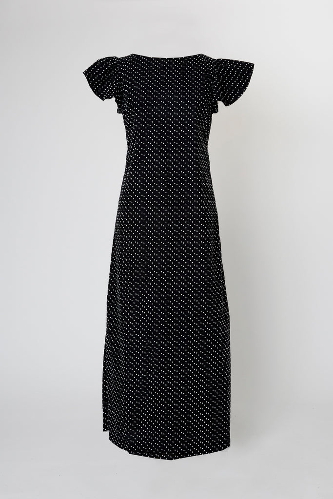 Capitola Cabana Dress - Midnight Flamenco Dot
