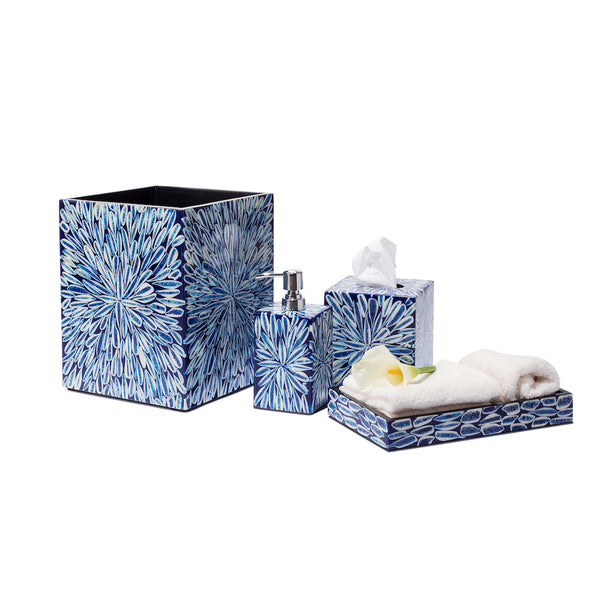Designer Bathroom Décor Guide LADORADA Blue Almendro Bath Set