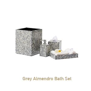 Grey Almendro Bath Set