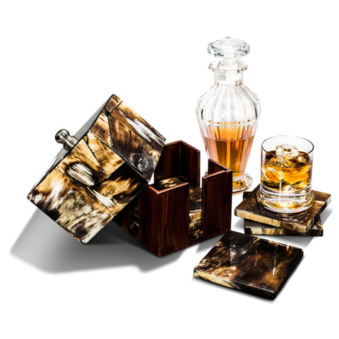 Luxe Horn Coaster Set
