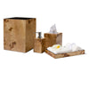 Burl Veneer Tissue Box