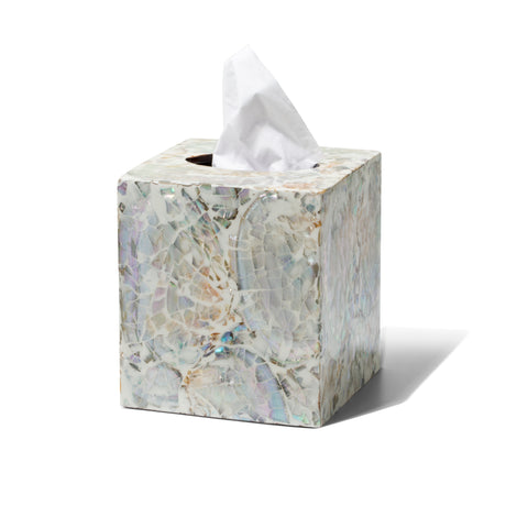 Mother of Pearl- Natural Tissue Box