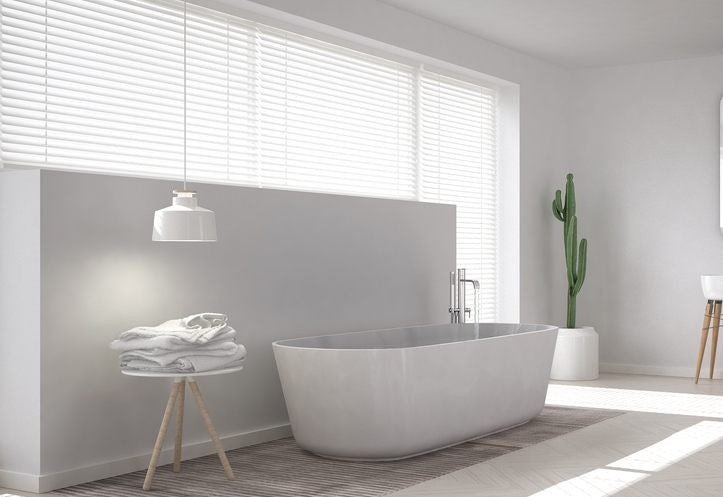 blinds in bathroom