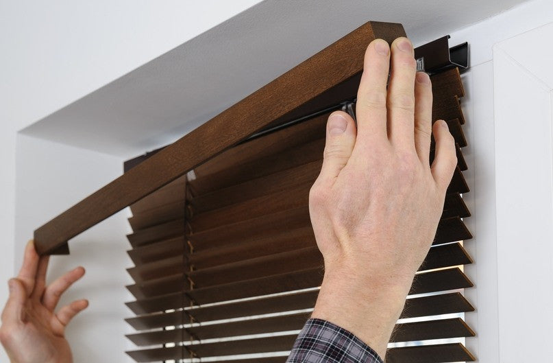 wood blinds header rail