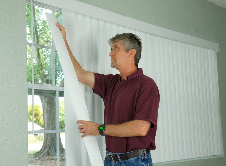 hanging vertical blinds