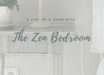 A title card reading: A life of a Charlotte, the zen bedroom