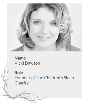 Bio card for Vicki Dawson from the Childrens Sleep Charity