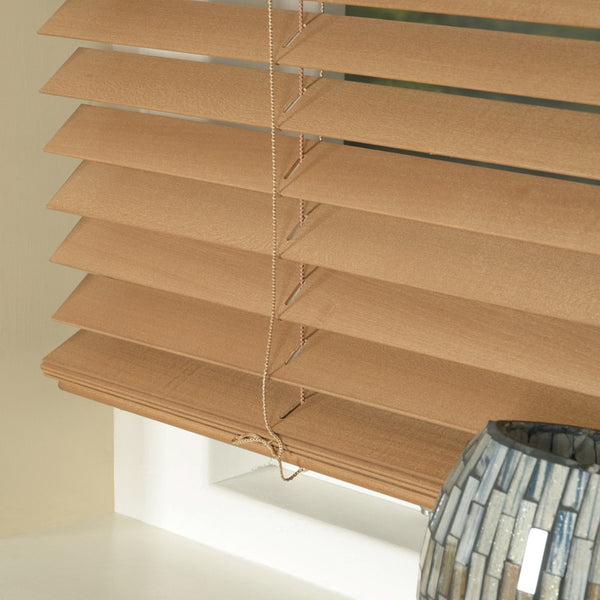 35mm Express Basswood Venetian Blind Pecan Free Sample