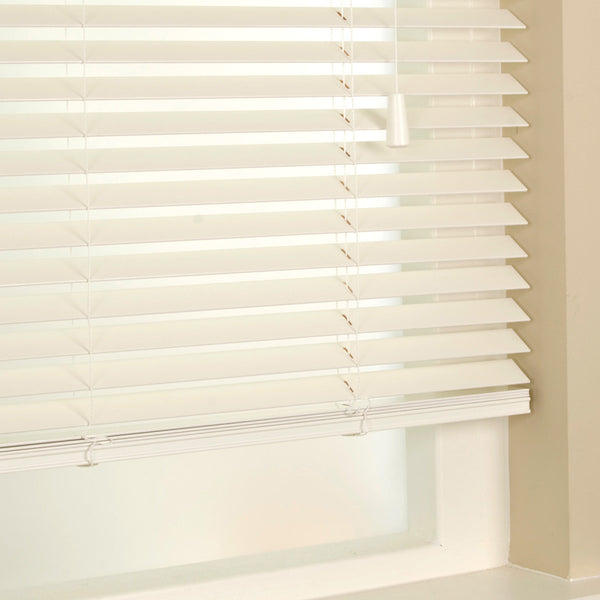 35mm Primary Wood Venetian Blinds Old White Free Sample