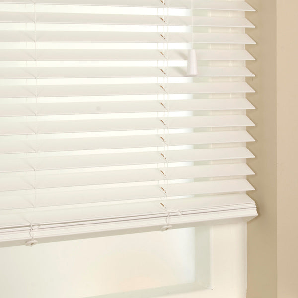 35mm Primary Wood Venetian Blinds Snow Free Sample