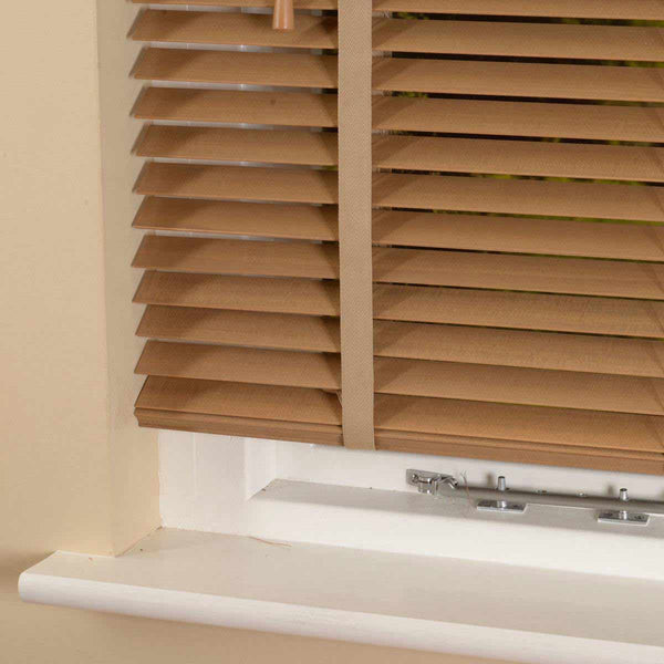 35mm Elementi Wood Venetian Blind With Tapes Tawny Free Sample
