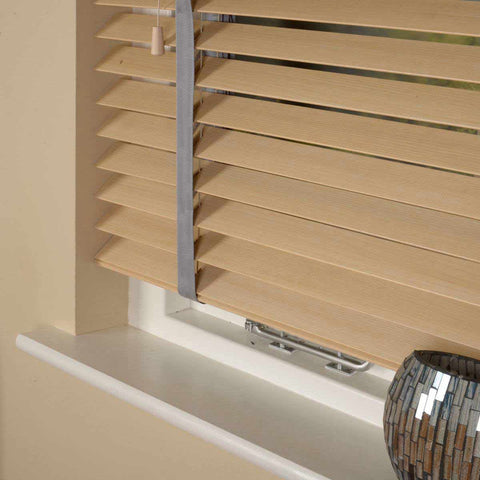 50mm Elementi Wood Venetian Blind With Tapes Maple