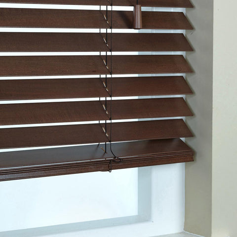 50mm Elementi Wood Venetian Blind Auburn