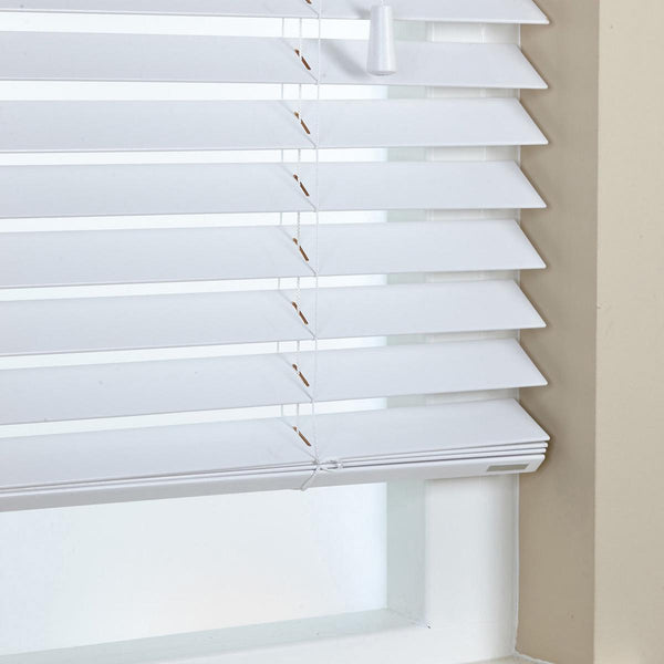 50mm Elementi Wood Venetian Blind Gloss White